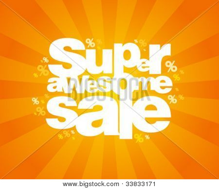 Super awesome sale design template.