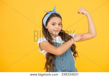 Cute Small Kid Fashion Girl. Fashion Accessories. Power. Strong Baby. Fashion Trend. Summer Vacation