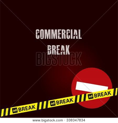 Enclosing Yellow Ribbon - Commercial Break And Stop Sign