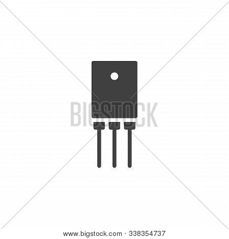 Electronic Transistor Vector Icon. Filled Flat Sign For Mobile Concept And Web Design. Power Transis