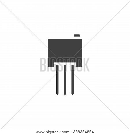 Electric Transistor Chip Vector Icon. Filled Flat Sign For Mobile Concept And Web Design. Power Tran
