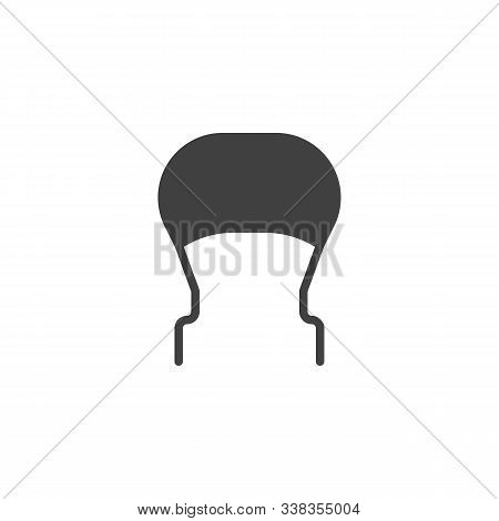 Electronic Varistor Vector Icon. Filled Flat Sign For Mobile Concept And Web Design. Capacitor, Resi