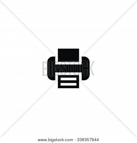 Print Icon Isolated On White Background, Print Icon Trendy And Modern Print Symbol For Logo, Web, Ap