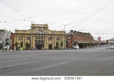Victoria, Australia, April 2019 People At Queen Victoria Market At Victoria Street, Carlton, Melbour