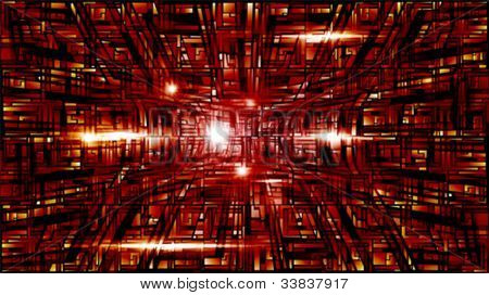 Vector illustration of futuristic red abstract glowing background
