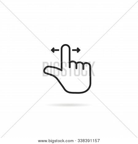 Swipe Scroll Like Thin Line Hand. Flat Stroke Trend Modern Logotype Lineart Graphic Art Minimal Desi