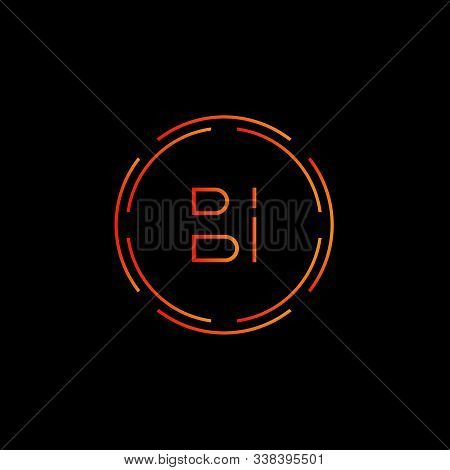 Initial Bi Letter Logo With Creative Modern Business Typography Vector Template. Creative Abstract L