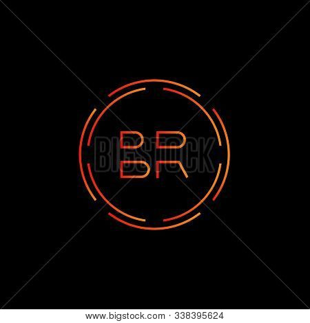 Initial Br Letter Logo With Creative Modern Business Typography Vector Template. Creative Abstract L