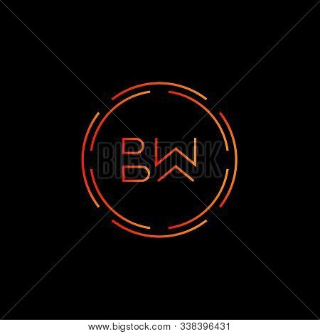 Initial Bw Letter Logo With Creative Modern Business Typography Vector Template. Creative Abstract L