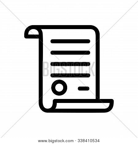 Papyrus Icon Vector. Thin Line Sign. Isolated Contour Symbol Illustration