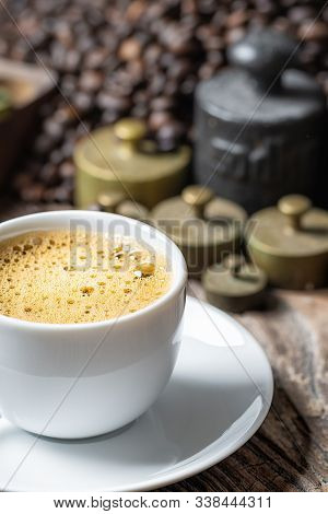 Coffee Cup With Metal Weight
