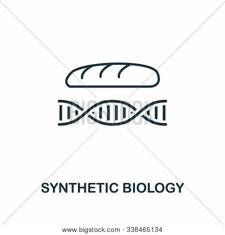 Synthetic Biology Line Icon. Thin Style Element From Future Technology Collection. Outline Synthetic