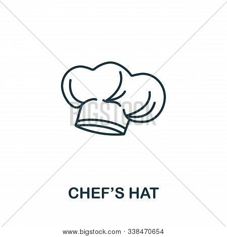 Chefs Hat Icon From Fastfood Collection. Simple Line Element Chefs Hat Symbol For Templates, Web Des