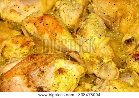 The Chicken In The Marinade.pickled Chicken Thighs.background Of The Chicken In The Marinade.marinat