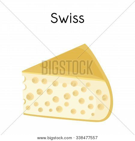 Vector Design Of Chees And Swiss Logo. Web Element Of Chees And Piece Stock Symbol For Web.