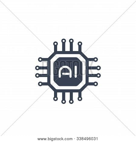 Ai Chipset, Artificial Intelligence Technology Icon, Eps 10 File, Easy To Edit