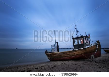 Old Fishing Boat On The Isle Usedom (germany)