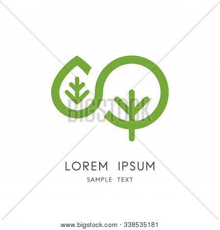 Tree Leaf Logo - Green Plant And Sprout Symbol. Vegetative Reproduction, Ecology And Environment Vec