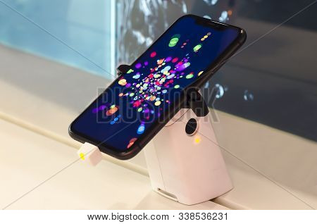 Saint-petersburg, Russia - December 3, 2019: New Iphone 11 Smartphone On Sale In Electronic Apple St
