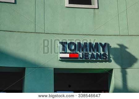 Curacao-11/3/19: Tommy Jeans Retail Clothing Store Storefront In The Shopping District In Curacao.