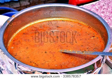 Chole Or Chickpea Curry, Delicious Punjabi Chole Curry Served In Indian Wedding