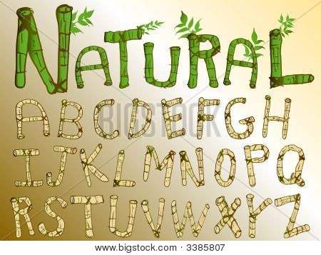 Natural Bamboo Font Set