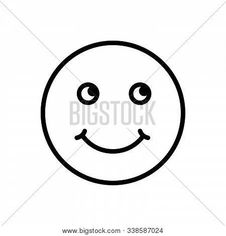 Black Line Icon For Smile Grin Deride Jest