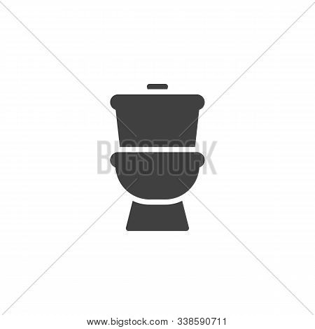 Toilet, Lavatory Vector Icon. Filled Flat Sign For Mobile Concept And Web Design. Toilet Bowl Glyph