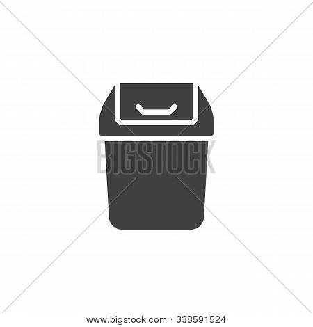 Trashcan Basket Vector Icon. Filled Flat Sign For Mobile Concept And Web Design. Garbage Bin Glyph I