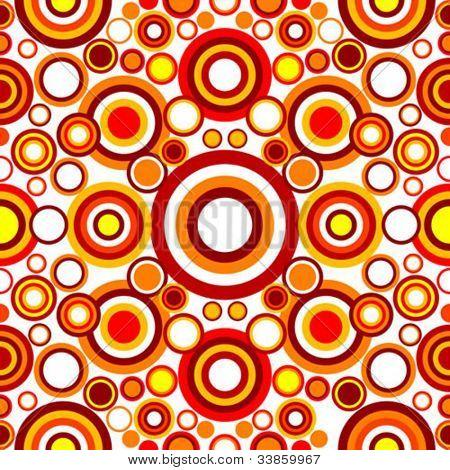 seamless circle retro pattern