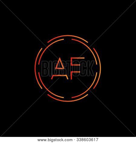 Initial Af Letter Logo With Creative Modern Business Typography Vector Template. Creative Abstract L