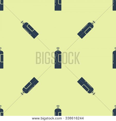 Blue Industrial Gas Cylinder Tank For All Inert And Mixed Inert Gases Icon Isolated Seamless Pattern