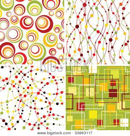 Set of seamless geometric backgrounds.