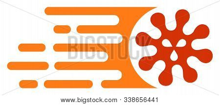 Gone Viral Raster Icon. Flat Gone Viral Symbol Is Isolated On A White Background.