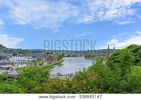 Inverness , Scotland - May 22 , 2019 : Inverness Is A City On Scotland Where The River Ness Meets Th