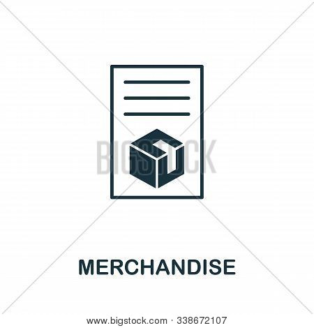 Merchandise Icon. Creative Element From Business Administration Collection. Simple Merchandise Icon