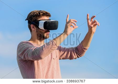 Designer Or Engineer. Designing 3d Objects. Educational Futuristic Program. Cyber Space. Virtual Rea