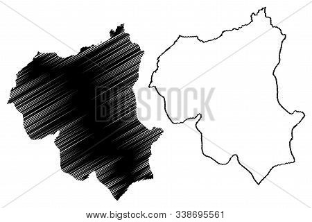 Ouham-pende Prefecture (prefectures Of The Central African Republic, Car) Map Vector Illustration, S