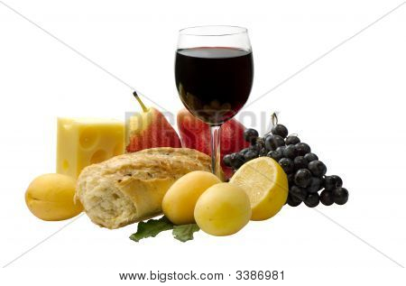 Red Wine And Fruit