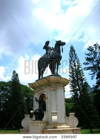 Statue Of An Indian  King