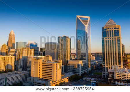 December 08, 2019 - Charlotte, North Carolina, USA: Charlotte is the most populous city in the U.S. state of North Carolina and home to the 2020 Republican National Convention.