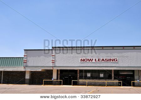 An empty shopping mall available for lease