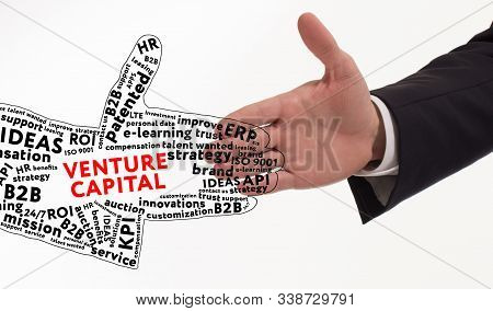 Business, Technology, Internet And Networking Concept. Young Entrepreneur Is Committed To Success Us