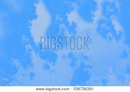 Blue Gradient Color. Marble Texture, Patchy Background