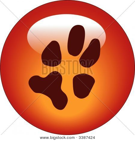 Button Paw Print.