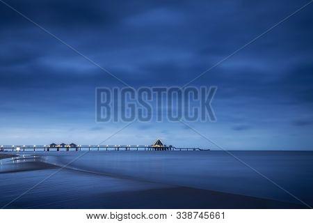 Sea Bridge On The Isle Usedom At The Baltic Sea