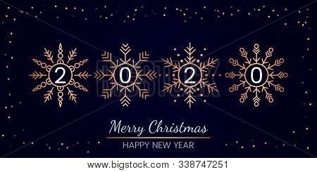 Greeting Card And Invitation. There Is An Inscription 220 Inside The Snowflakes. Design Element For
