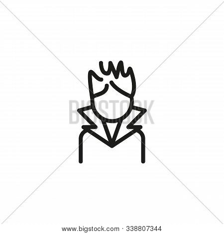 Stylist Thin Line Icon. Hair, Style, Barber Isolated Outline Sign. Service And Beauty Business Conce