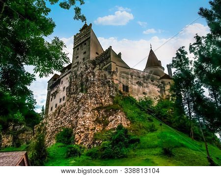 Dracula's Castle On The Hill - The National Monument And Tourist Landmark Of Romania In Bran. Bran C