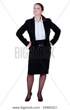Haughty businesswoman